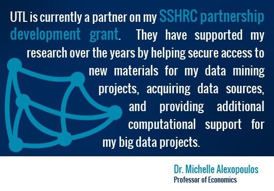 testimonial of research support services quality by Dr. Michelle Alexopoulos