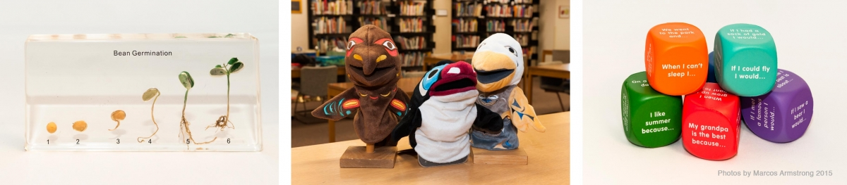 Manipulatives and puppets from Curriculum Resources Collection