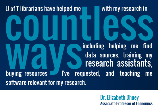 testimonial of research quality by Dr. Elizabeth Dhuey