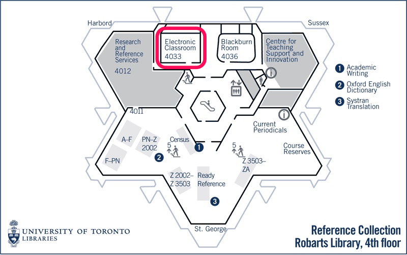 map of electronic room.