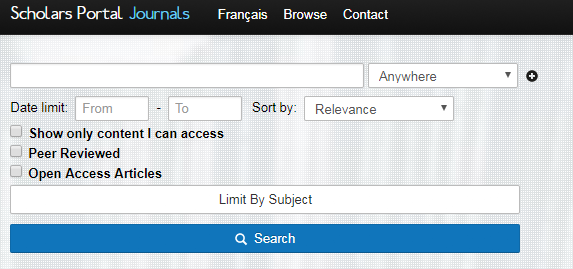 new scholars portal journals interface
