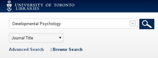 catalogue search by journal title