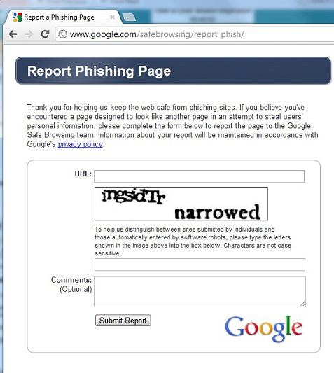 How To Report A Suspected Phishing Website University Of Toronto Libraries