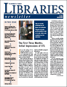 screenshot image of current newsletter front page