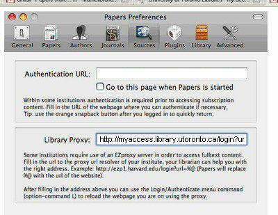 PAPERS   University of Toronto Libraries