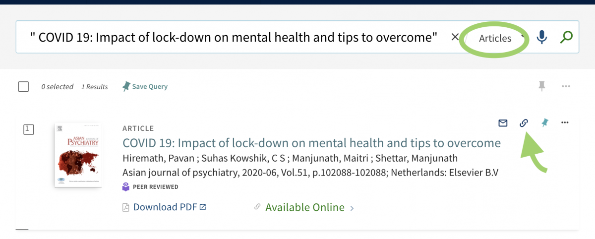screen capture of article on the impact of covid lockdowns on mental health