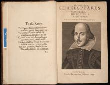 Photo of Shakespeare's First Folio