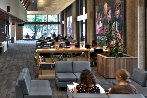 Photo of OISE Library (Ontario Institute for Studies in Education)