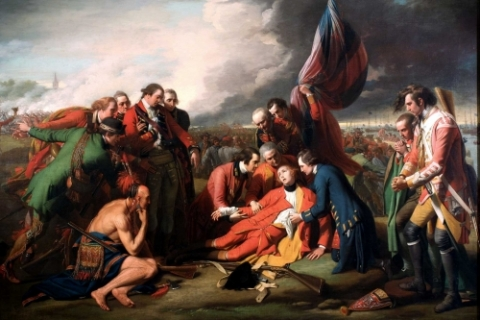 The death of General Wolfe.