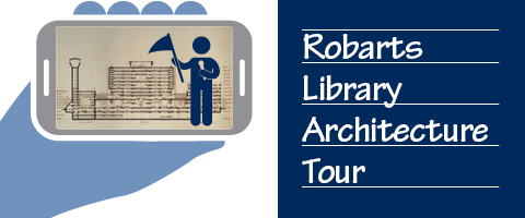 Graphic image advertising a tour of Robarts Library