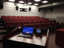A view of the Media Commons theatre