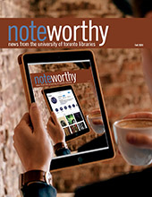 cover image of the fall 2020 edition of noteworthy, the university of toronto libraries newsletter