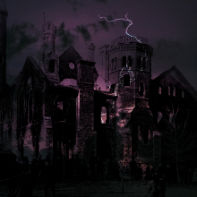 University College fire 1890 with spooky lightening effects added