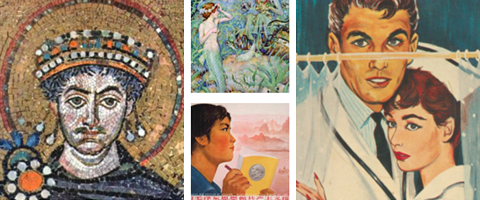 A collage of images from the Fisher Library collections